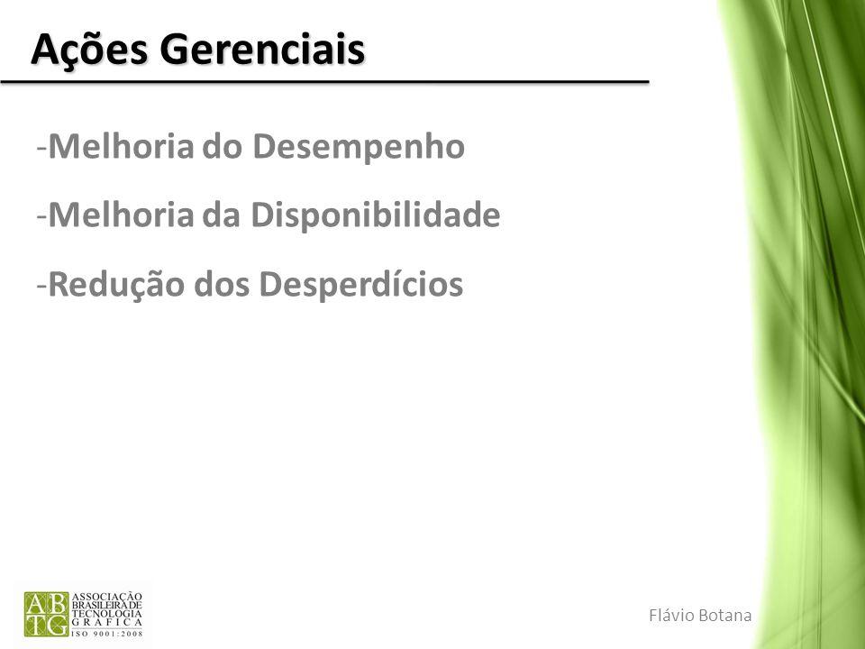 Ações Gerenciais -Melhoria do Desempenho -Melhoria da Disponibilidade -Redução dos Desperdícios Flávio Botana