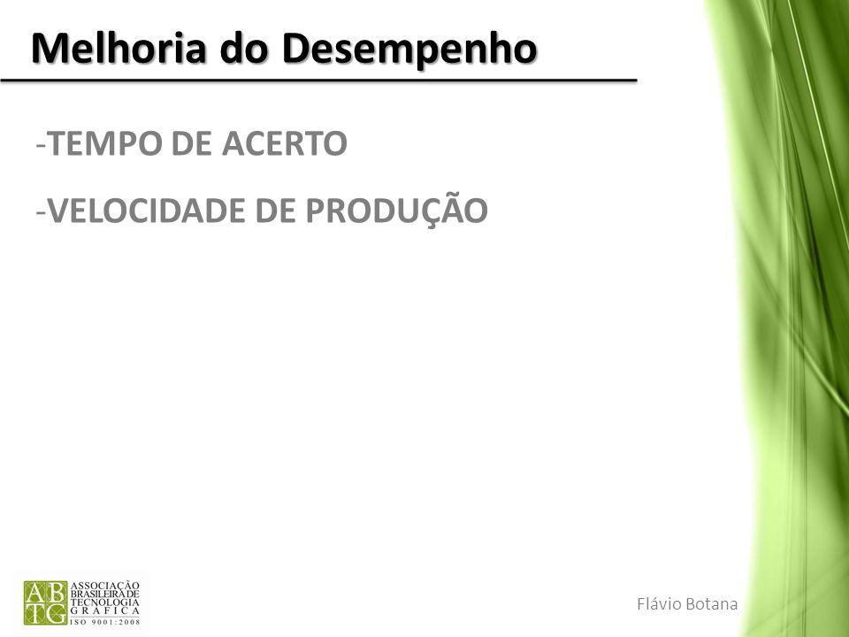 Melhoria do Desempenho -TEMPO DE ACERTO -VELOCIDADE DE PRODUÇÃO Flávio Botana