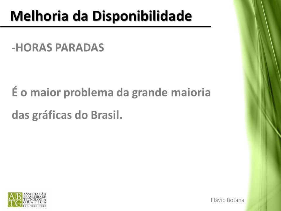 Melhoria da Disponibilidade -HORAS PARADAS É o maior problema da grande maioria das gráficas do Brasil. Flávio Botana