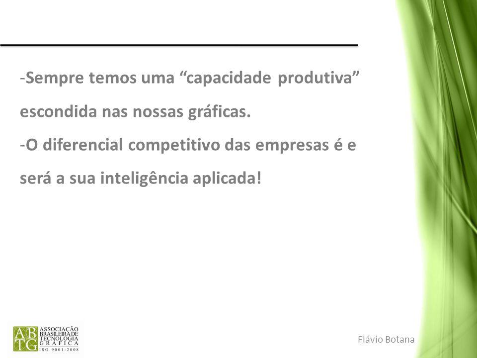 -Sempre temos uma capacidade produtiva escondida nas nossas gráficas. -O diferencial competitivo das empresas é e será a sua inteligência aplicada! Fl
