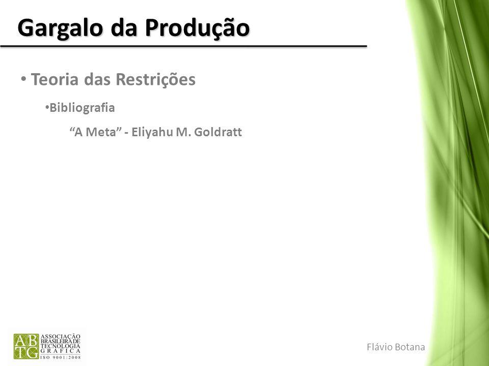 Gargalo da Produção Teoria das Restrições Bibliografia A Meta - Eliyahu M. Goldratt Flávio Botana