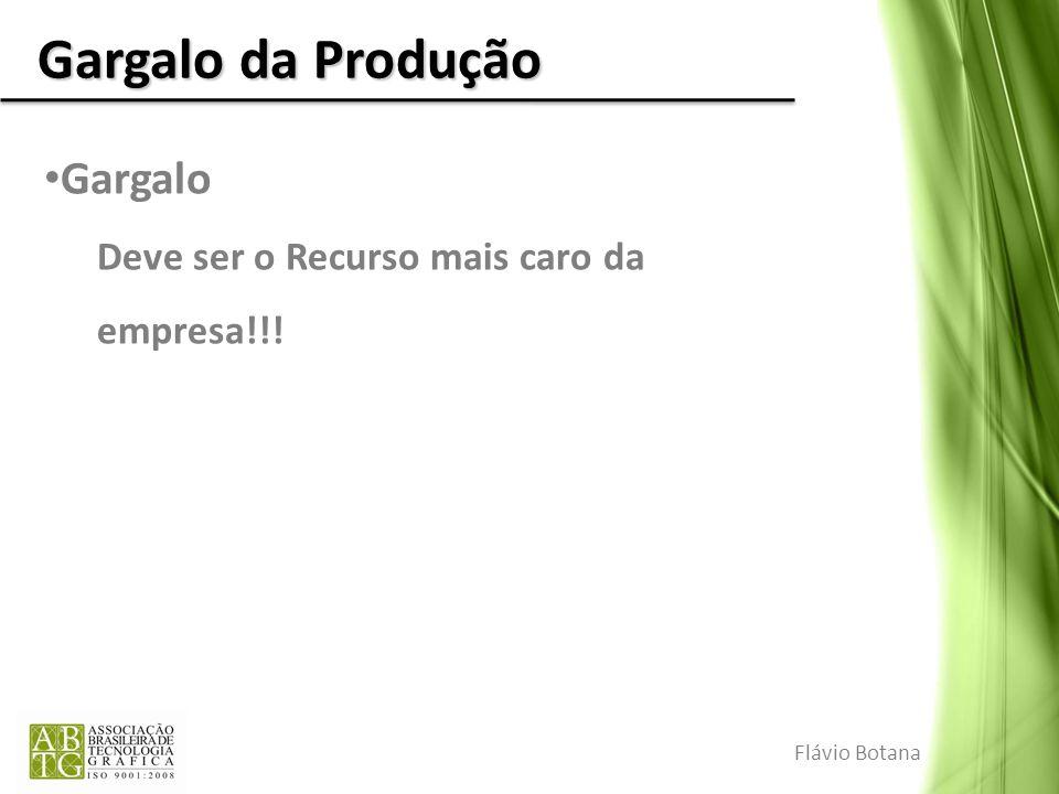 Gargalo da Produção Gargalo Deve ser o Recurso mais caro da empresa!!! Flávio Botana