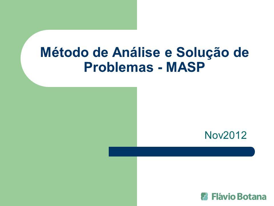 Método de Análise e Solução de Problemas - MASP Nov2012