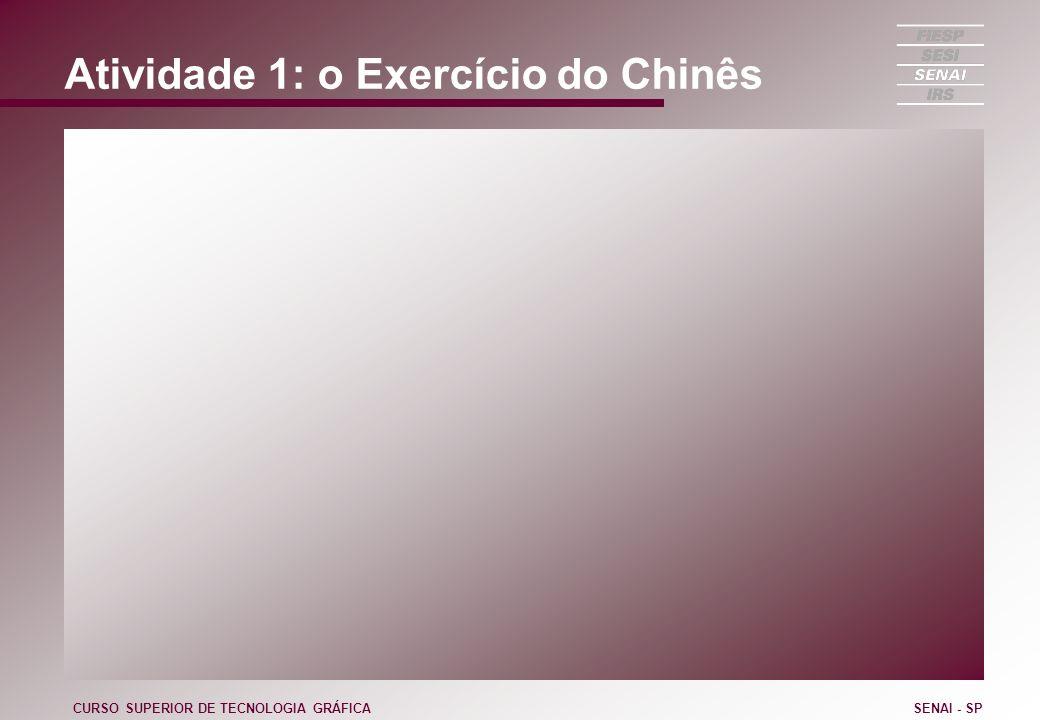Atividade 1: o Exercício do Chinês CURSO SUPERIOR DE TECNOLOGIA GRÁFICASENAI - SP