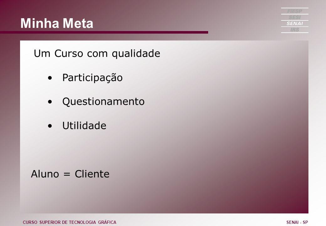 Processos Processo Orientado para o Cliente Vendas Engenharia (Orçamentos) PCP Produção Entrega Cobrança Assistência Técnica CURSO SUPERIOR DE TECNOLOGIA GRÁFICASENAI - SP