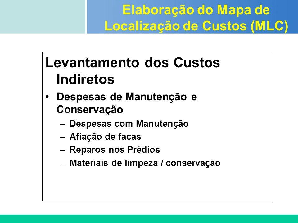 Certificada ISO 9002 Levantamento dos Custos Indiretos Despesas de Manutenção e Conservação –Despesas com Manutenção –Afiação de facas –Reparos nos Pr