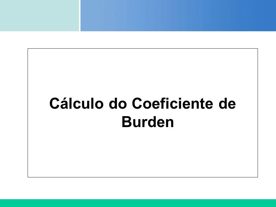 Certificada ISO 9002 Cálculo do Coeficiente de Burden