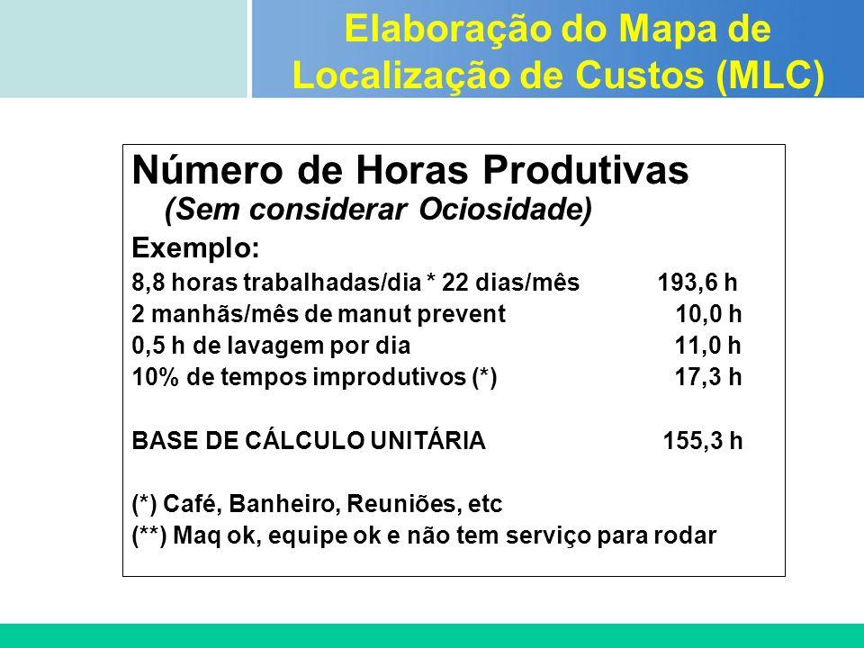 Certificada ISO 9002 Número de Horas Produtivas (Sem considerar Ociosidade) Exemplo: 8,8 horas trabalhadas/dia * 22 dias/mês 193,6 h 2 manhãs/mês de m