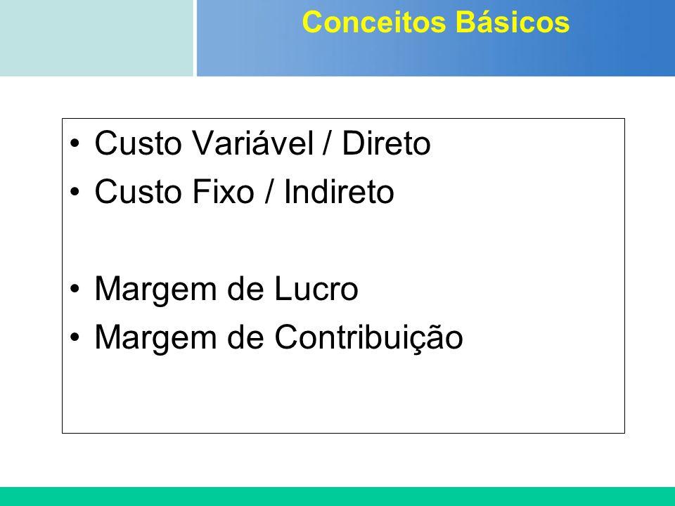 Certificada ISO 9002 Custo Variável / Direto Custo Fixo / Indireto Margem de Lucro Margem de Contribuição Conceitos Básicos