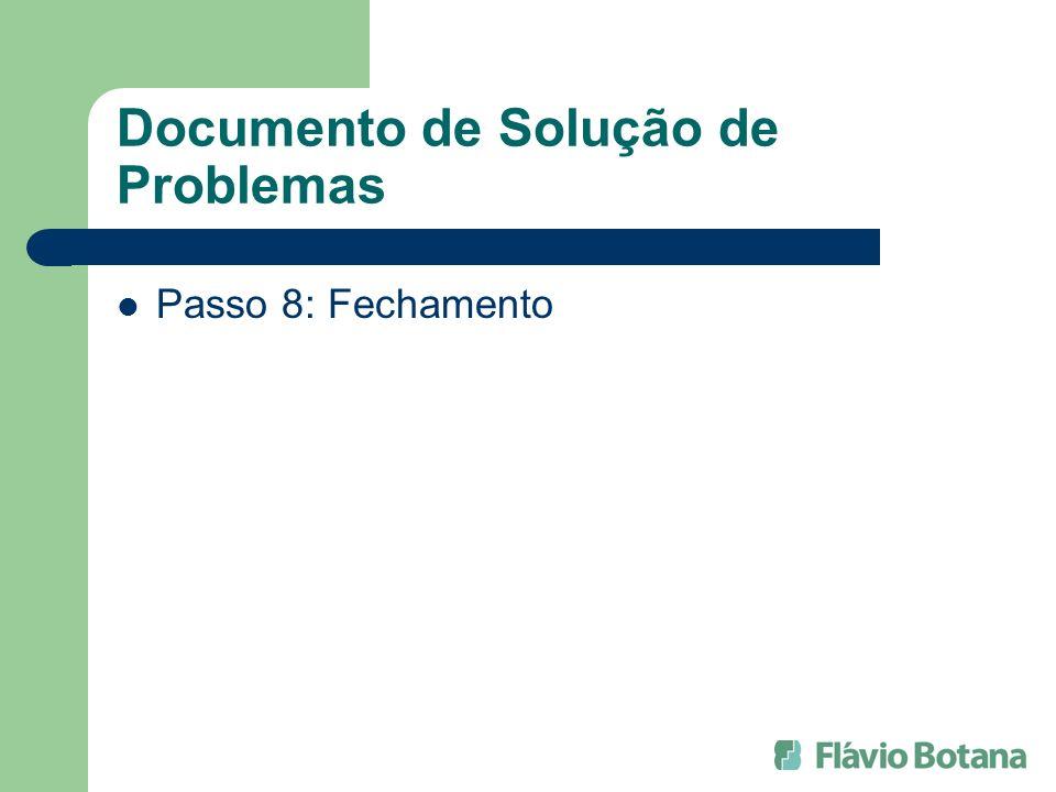 Documento de Solução de Problemas Passo 8: Fechamento