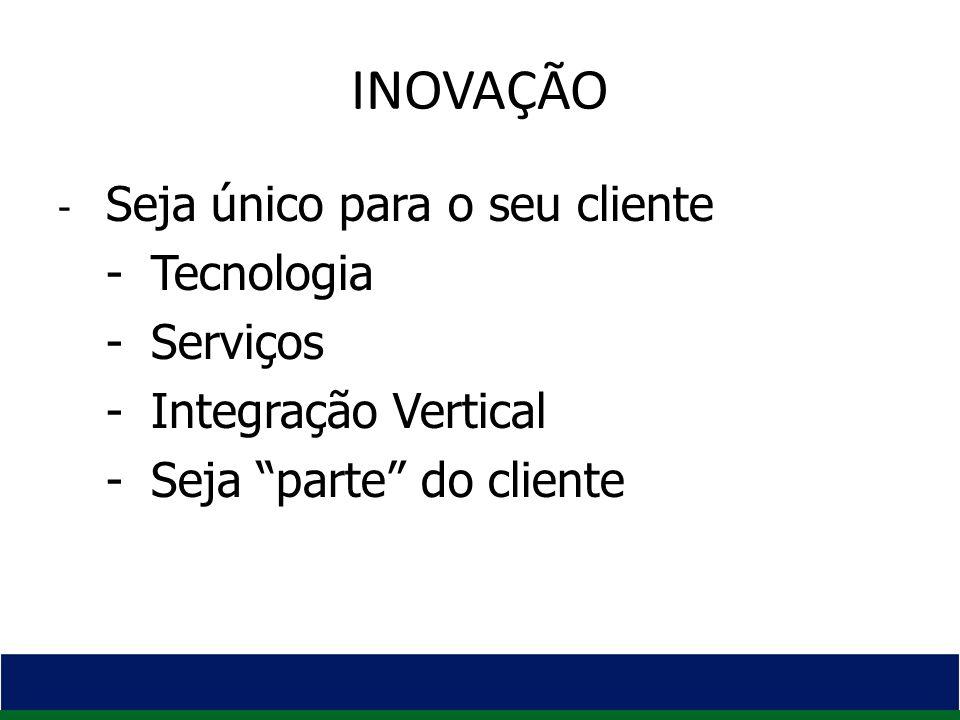 - Seja único para o seu cliente - Tecnologia - Serviços - Integração Vertical - Seja parte do cliente