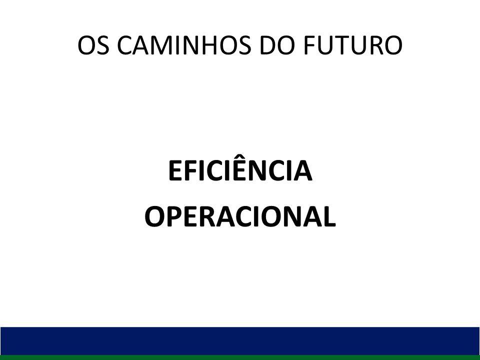 OS CAMINHOS DO FUTURO EFICIÊNCIA OPERACIONAL