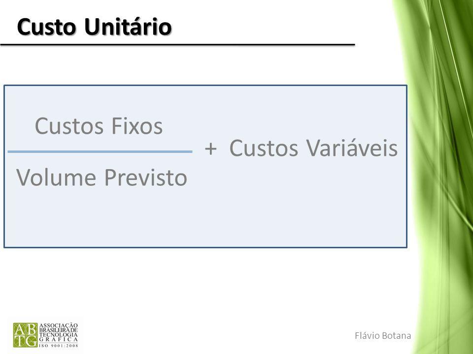 Custo Unitário Flávio Botana Custos Fixos Volume Previsto + Custos Variáveis