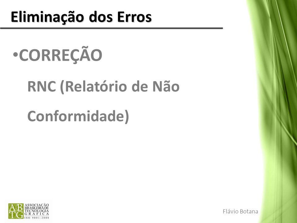 Eliminação dos Erros CORREÇÃO RNC (Relatório de Não Conformidade) Flávio Botana
