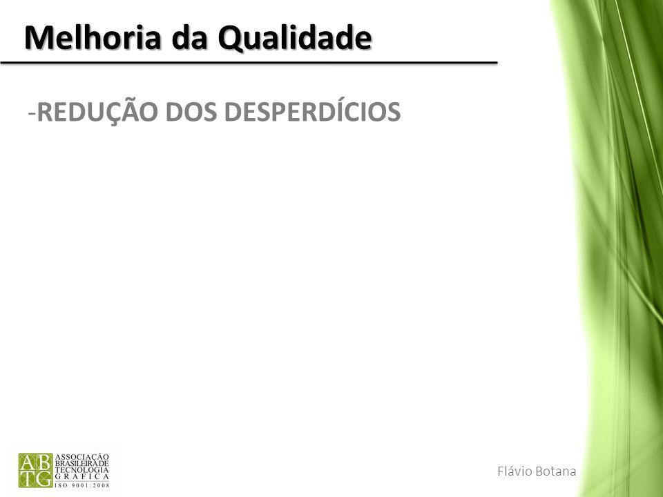 Melhoria da Qualidade -REDUÇÃO DOS DESPERDÍCIOS Flávio Botana