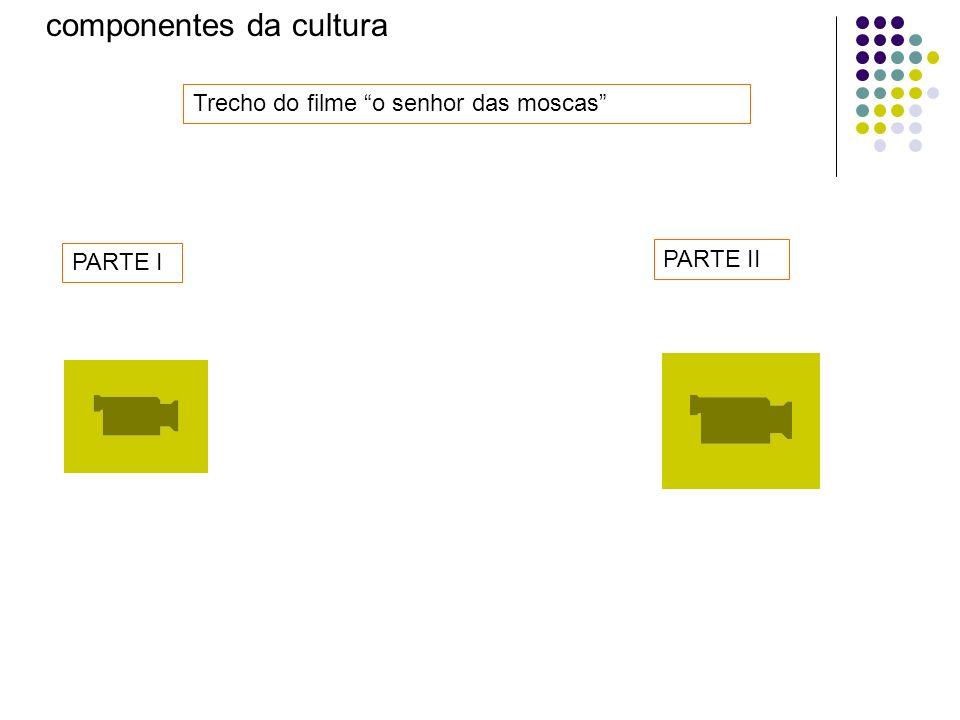 componentes da cultura Trecho do filme o senhor das moscas PARTE I PARTE II