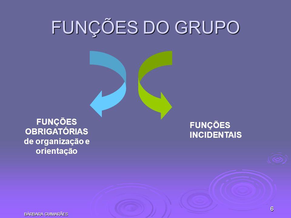 BÁRBARA GUIMARÃES 17 REFERÊNCIAS BERNE, Eric.Estrutura e dinâmica das organizações e dos grupos.