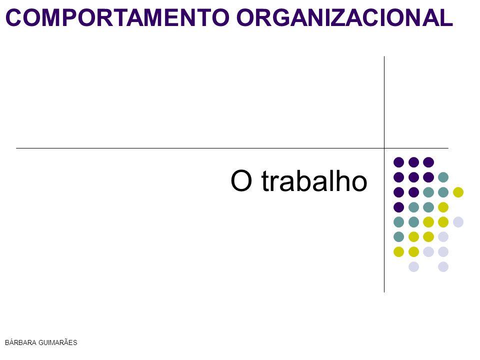 BÁRBARA GUIMARÃES COMPORTAMENTO ORGANIZACIONAL O trabalho