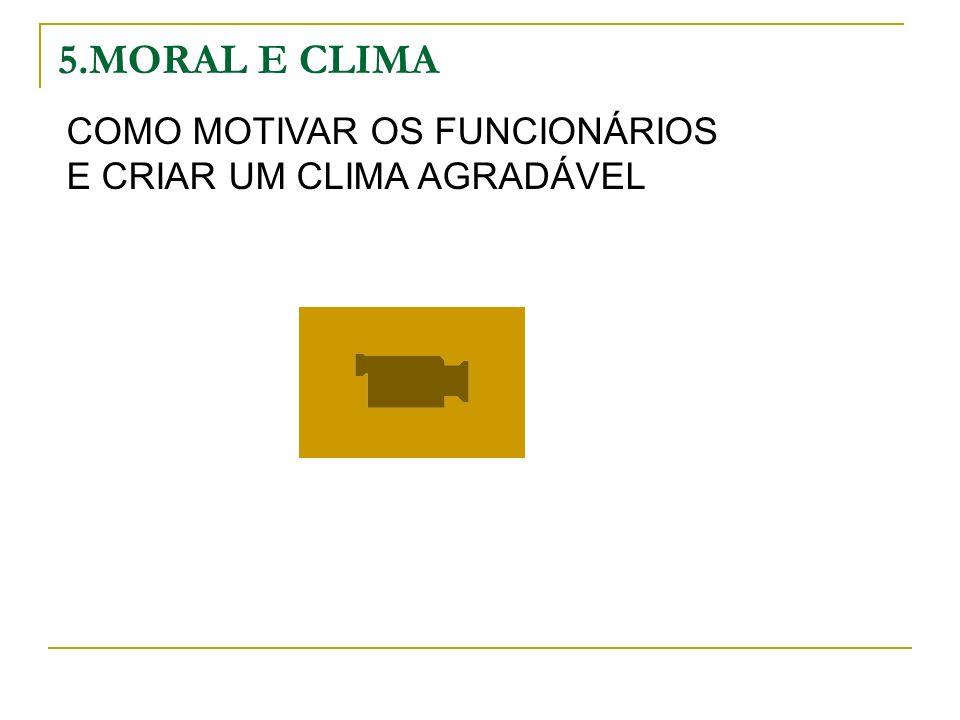 5.MORAL E CLIMA COMO MOTIVAR OS FUNCIONÁRIOS E CRIAR UM CLIMA AGRADÁVEL