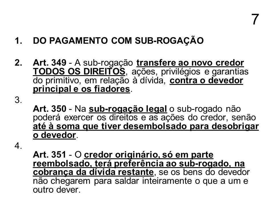 8 1.DA IMPUTAÇÃO DO PAGAMENTO 2.CONCEITO Art.
