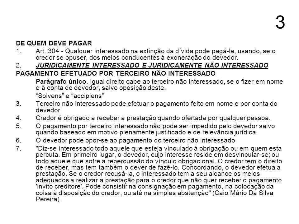 14 DESPESAS COM O PAGAMENTO DO DEVEDOR Art.