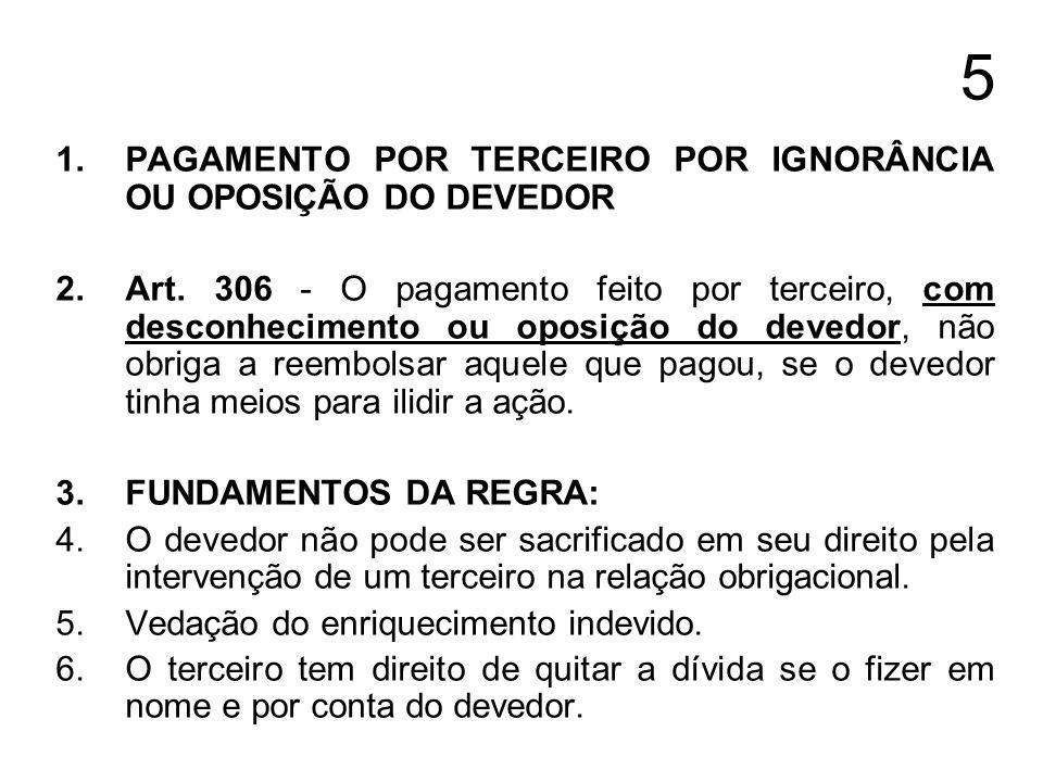6 1.EFICÁCIA DO PAGAMENTO EM OBRIGAÇÃO DE FAZER QUE CONSISTA EM TRANSMISSÃO DA PROPRIEDADE Art.