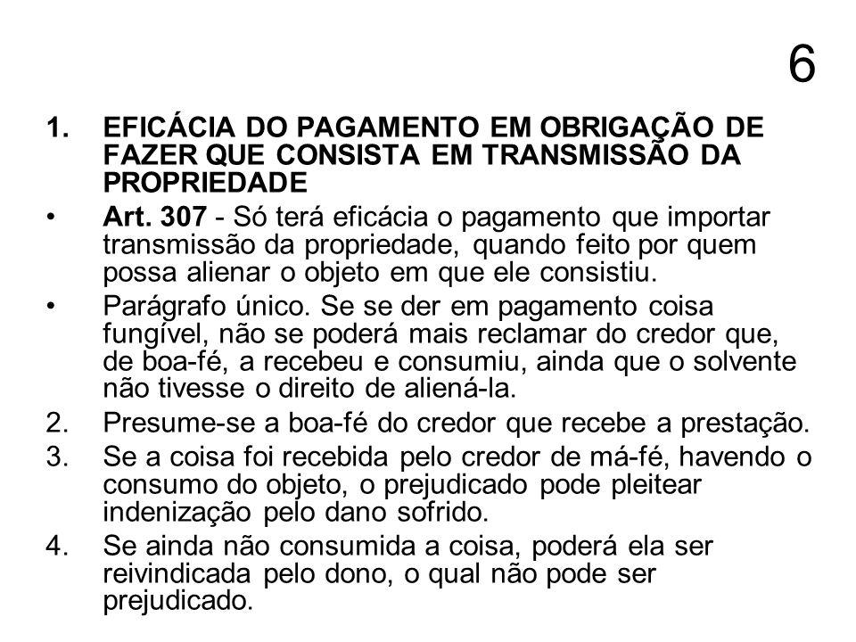 7 1.CAPACIDADE PARA RECEBER A PRESTAÇÃO 2.Art.