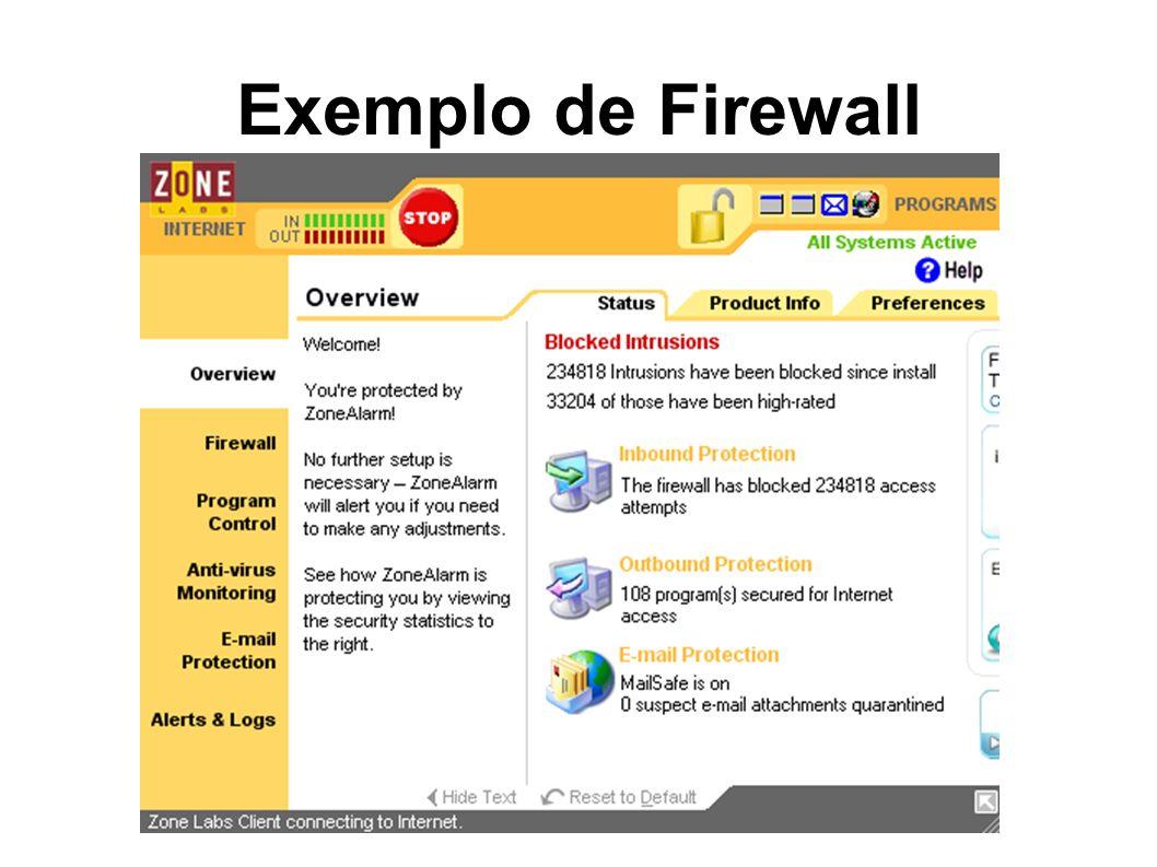 Exemplo de Firewall