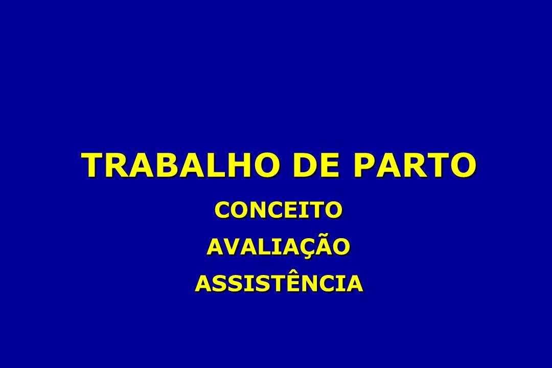 TRABALHO DE PARTO CONCEITO AVALIAÇÃO ASSISTÊNCIA TRABALHO DE PARTO CONCEITO AVALIAÇÃO ASSISTÊNCIA