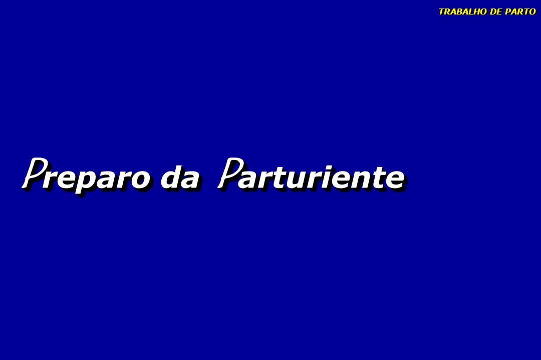 P reparo da P arturiente TRABALHO DE PARTO