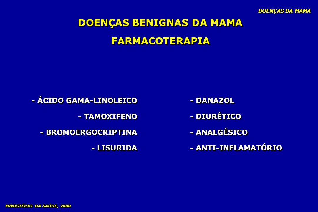 FARMACOTERAPIA - ÁCIDO GAMA-LINOLEICO - TAMOXIFENO - BROMOERGOCRIPTINA - LISURIDA - ÁCIDO GAMA-LINOLEICO - TAMOXIFENO - BROMOERGOCRIPTINA - LISURIDA D