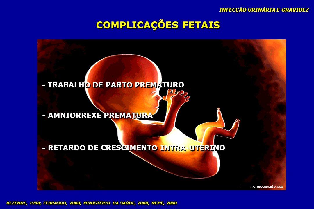 INFECÇÃO URINÁRIA E GRAVIDEZ COMPLICAÇÕES FETAIS - TRABALHO DE PARTO PREMATURO - AMNIORREXE PREMATURA - RETARDO DE CRESCIMENTO INTRA-UTERINO www.gocom