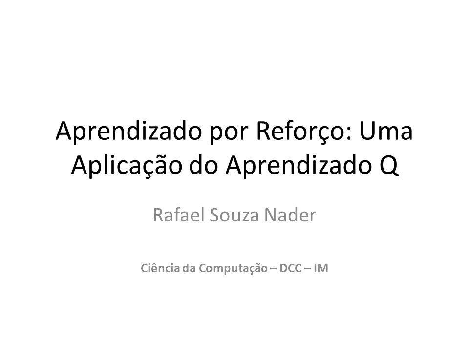 Aprendizado por Reforço: Uma Aplicação do Aprendizado Q Rafael Souza Nader Ciência da Computação – DCC – IM