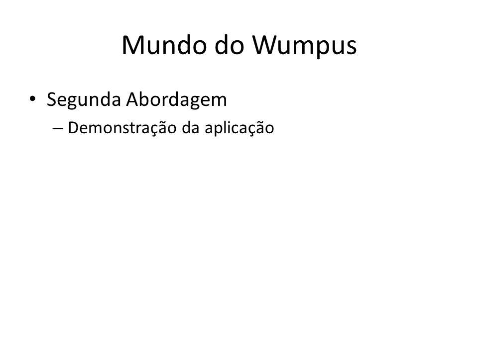 Mundo do Wumpus Segunda Abordagem – Demonstração da aplicação