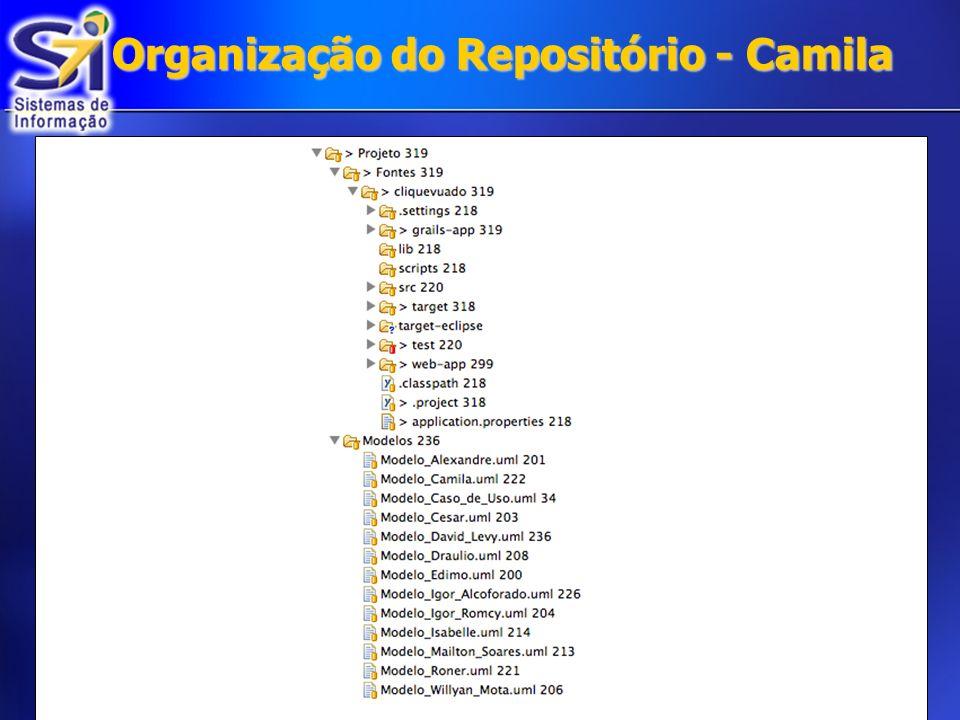 Organização do Repositório - Camila