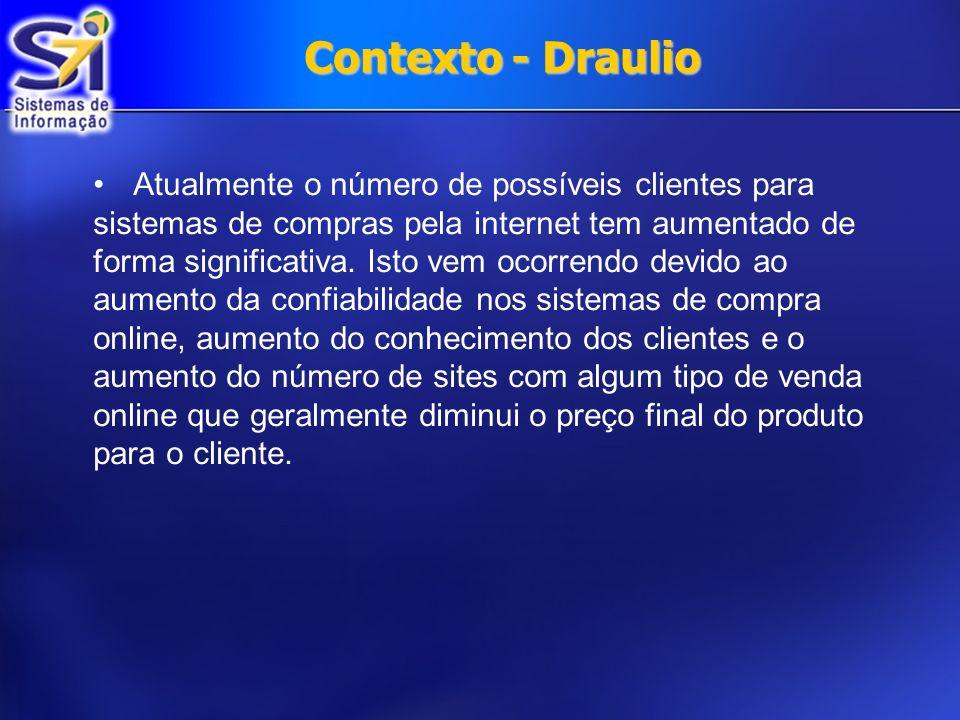 Contexto - Draulio Atualmente o número de possíveis clientes para sistemas de compras pela internet tem aumentado de forma significativa.