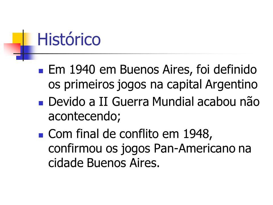Histórico Em 1940 em Buenos Aires, foi definido os primeiros jogos na capital Argentino Devido a II Guerra Mundial acabou não acontecendo; Com final d