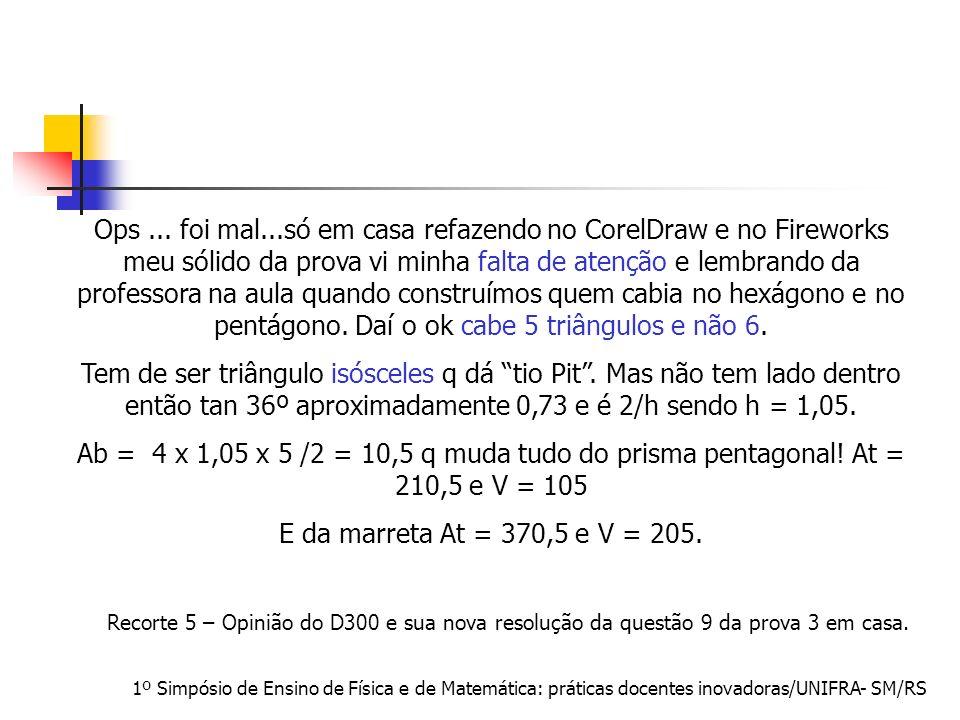 1º Simpósio de Ensino de Física e de Matemática: práticas docentes inovadoras/UNIFRA- SM/RS Ops... foi mal...só em casa refazendo no CorelDraw e no Fi