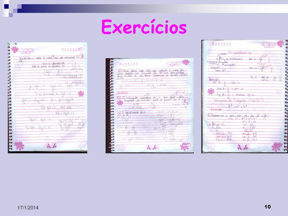 10 17/1/2014 Exercícios