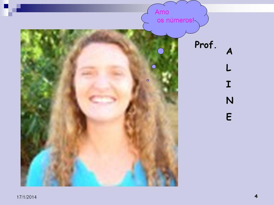 4 17/1/2014 Prof. ALINEALINE Amo os números!