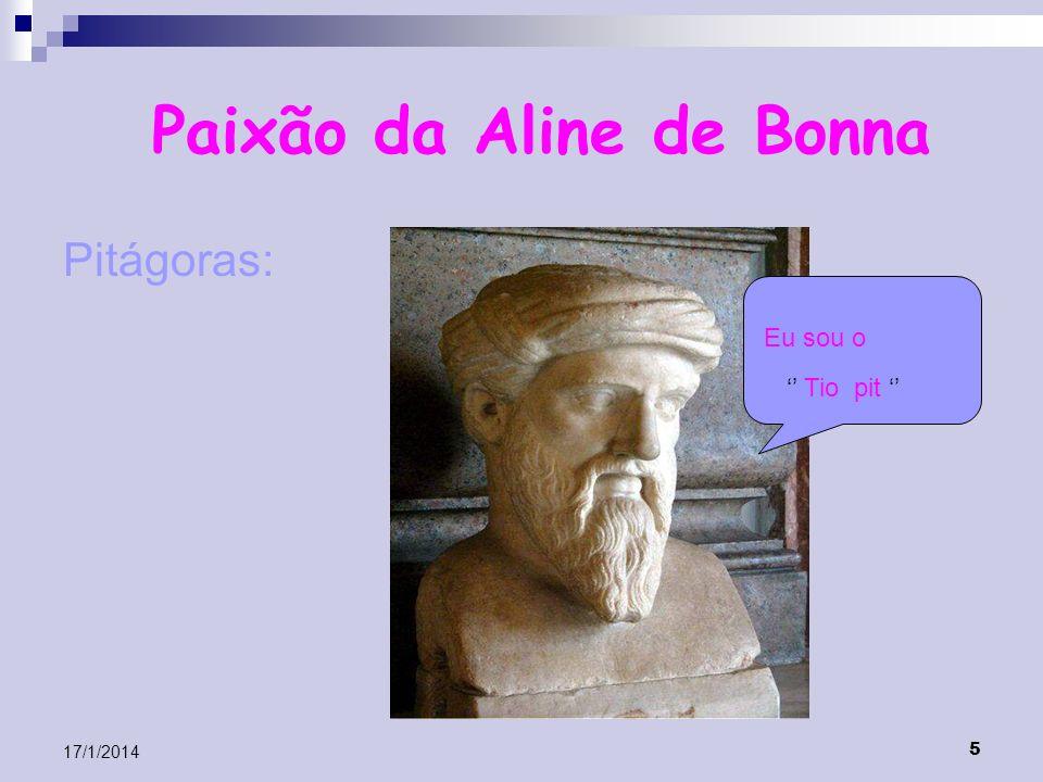 5 17/1/2014 Paixão da Aline de Bonna Pitágoras: Eu sou o Tio pit