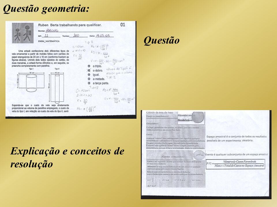 Questão geometria: Questão Explicação e conceitos de resolução