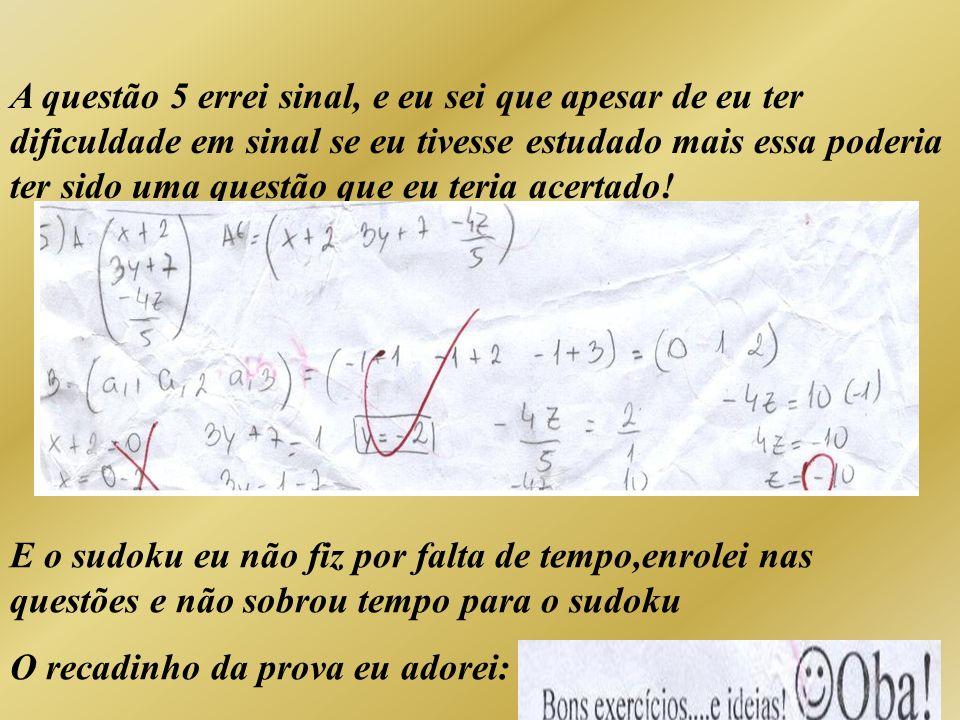 Meus métodos de estudo O meu principal modo de estudar para a matéria de matemática é alguns dias antes da prova abrir o caderno na matéria que vai cair na prova olhar, entender, escolher questões mais fáceis e mais difíceis e refazê-las.