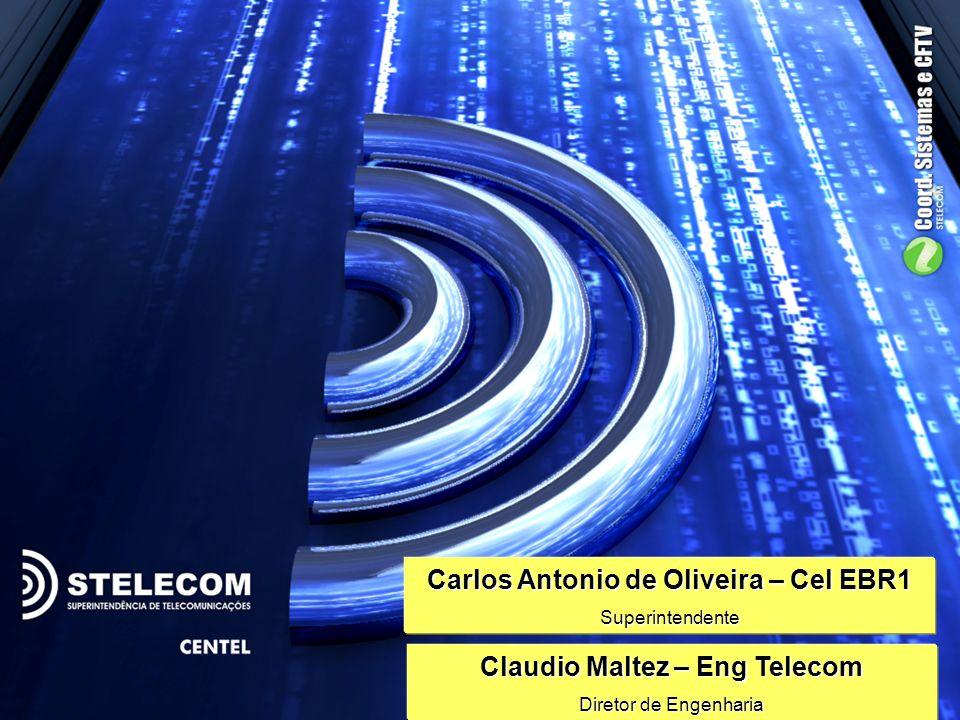3 Carlos Antonio de Oliveira – Cel EBR1 Superintendente Claudio Maltez – Eng Telecom Diretor de Engenharia