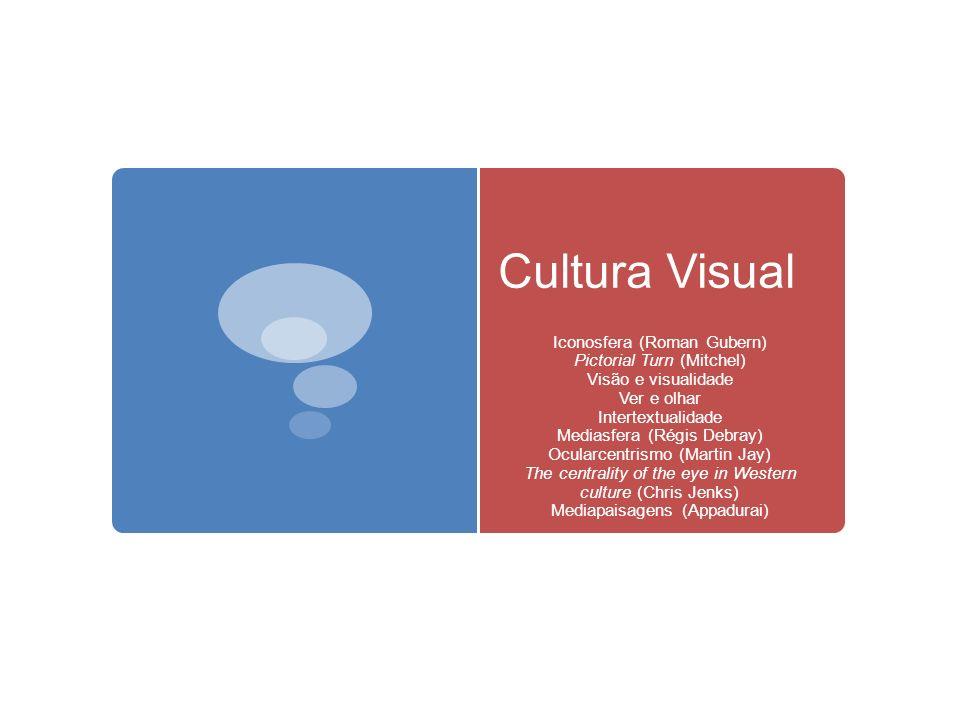 Cultura Visual Iconosfera (Roman Gubern) Pictorial Turn (Mitchel) Visão e visualidade Ver e olhar Intertextualidade Mediasfera (Régis Debray) Ocularce