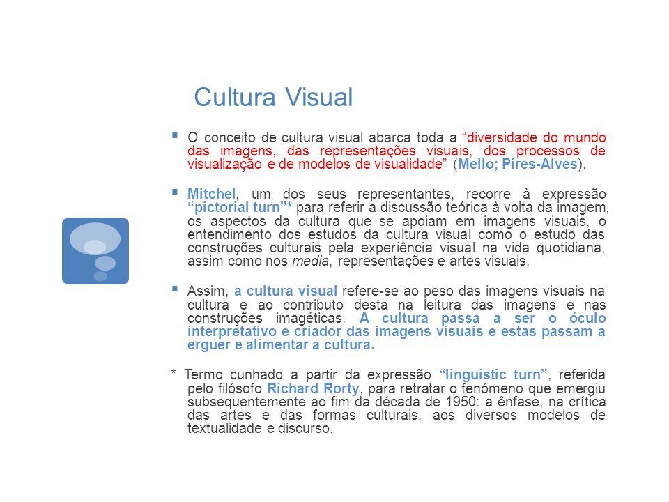 Cultura Visual O conceito de cultura visual abarca toda a diversidade do mundo das imagens, das representações visuais, dos processos de visualização