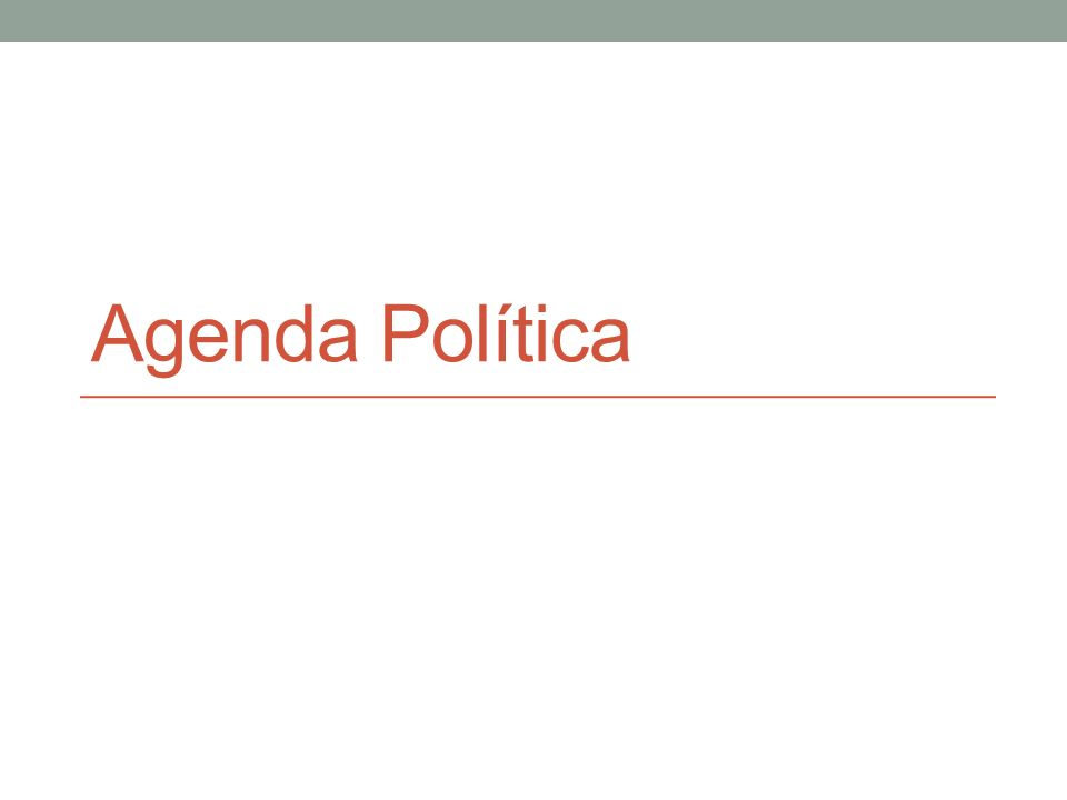 Como se definem as agendas governamentais.