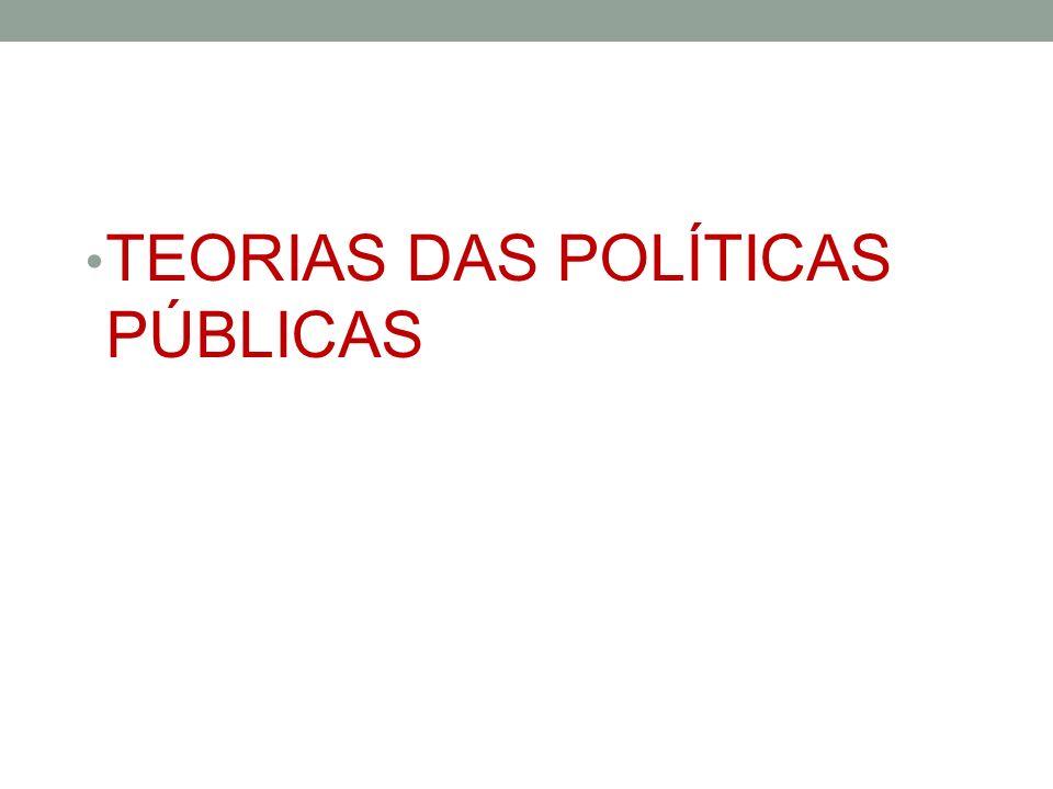 TEORIAS DAS POLÍTICAS PÚBLICAS