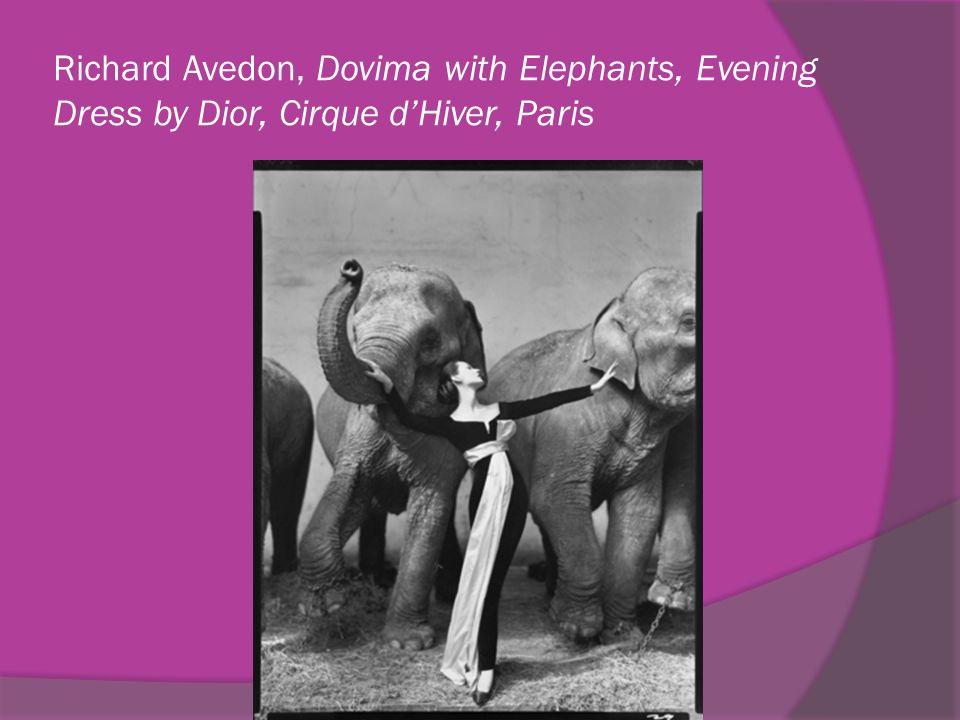 Richard Avedon, Dovima with Elephants, Evening Dress by Dior, Cirque dHiver, Paris