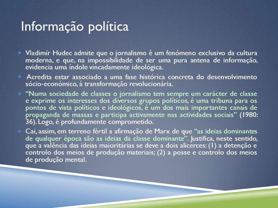 Informação política Jornalismo underground.